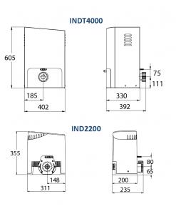 Allmatic Industrial Sliding Gate Opener Sizes