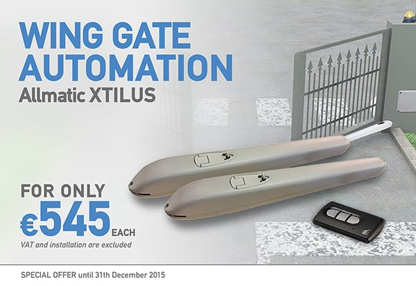 Allmatic Wing Gate Automation XTILUS Offer